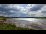 Прилив на реке Мезень timelapse