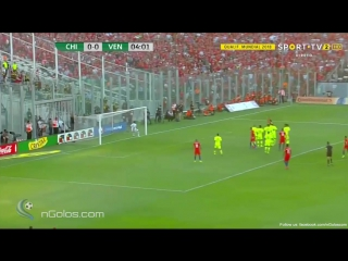 Chile 1-0 Venezuela - Sanchez 5' (Great Free-Kick Goal)