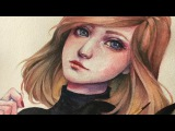 Annie's Portrait Watercolor Timelapse by Margaret Morales