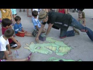 Chalk Artist David Zinn at the Ann Arbor Summer Festival #1