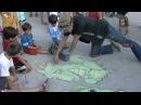 Chalk Artist David Zinn at the Ann Arbor Summer Festival 1