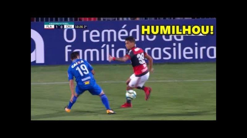 Lucas Paquetá do Flamengo Inova em Drible e leva Torcida a Loucura! Flamengo 2 x 0 Cruzeiro 2017