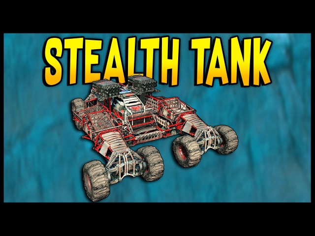 Crossout - STEALTH TANK! Dual Cricket Launcher Build - Crossout Gameplay