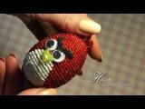 ЭНГРИ БЕРДС своими руками. Поделка из бисера. Angry Birds