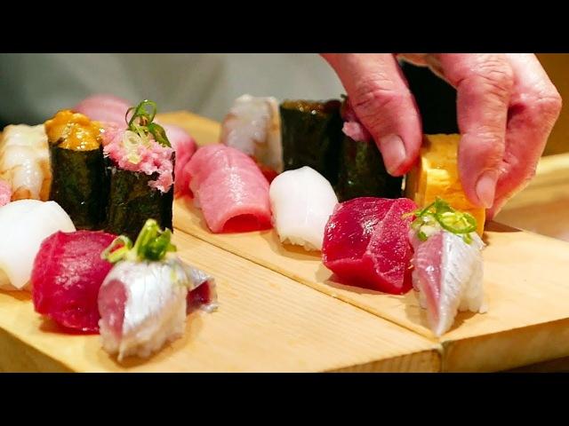Japanese Street Food - TSUKIJI MARKET SUSHI SASHIMI Japan Seafood