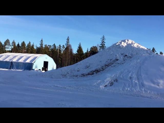 Даниэль Бодин выполнил первый в мире двойной бэкфлип на 200 килограммовом снегоходе