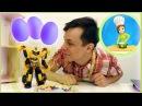 Cuciniamo insieme: Come preparare le uova viola! Federico e Bumblebee | Cartoni animati