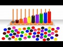 Learn Colors and Numbers 1- 10 with Wooden Stacking and Sorting Toys - Preschool Learning Videos