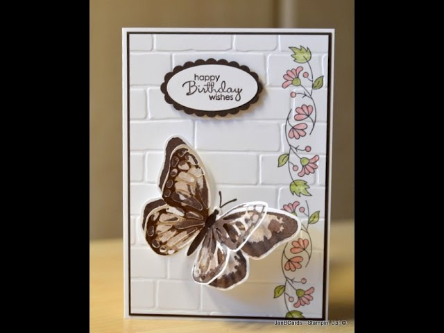 No.82 - Watercolour Wings Card Team Training Swap - JanB UK Stampin' Up! Demonstrator Independent