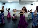 Aula de Dança Cigana com pandeiro no Espaço Dharma RJ Izabel Moratti
