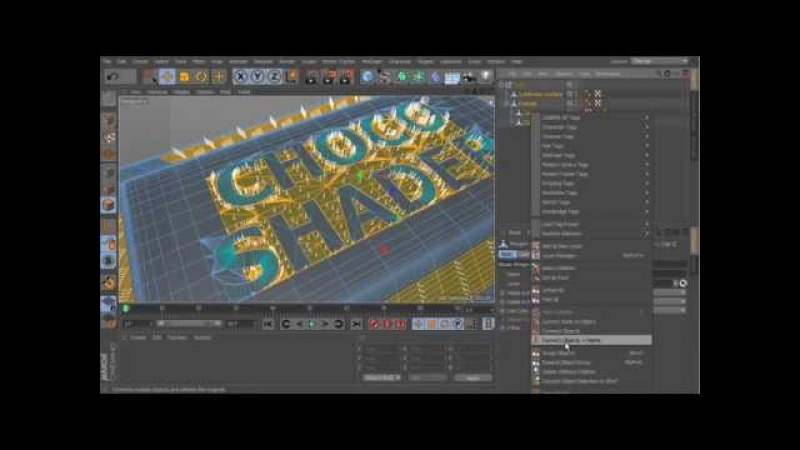 Tutorial Shader chocolate C4D