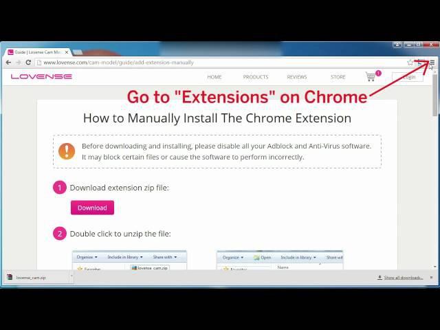 Как установить расширения Lovense в google Chrome