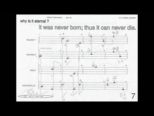 Horatiu Radulescu - Before The Universe Was Born (w score) (for string quartet) (1993)