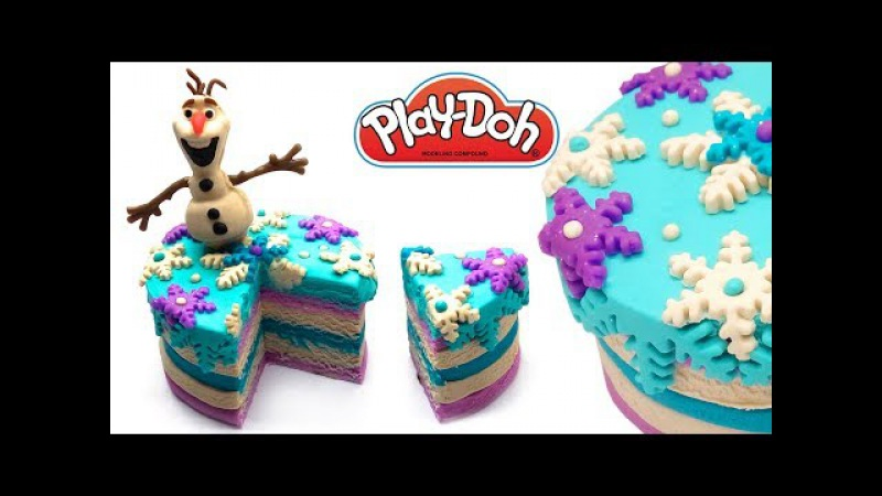 Craft for Kids Play Doh Cupcake How to make Frozen Olaf Snowman Cake Play-Doh Creations DIY for Kids