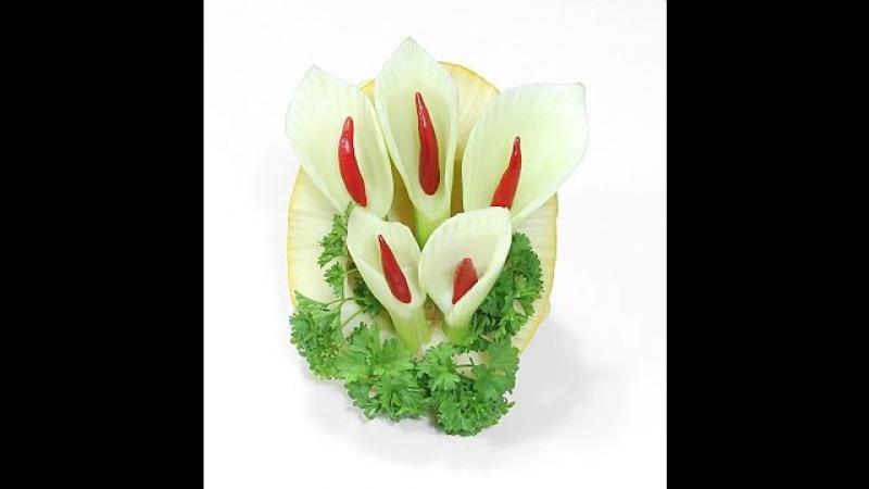 011. Darmowy kurs carvingu kalia z kopru włoskiego / Free carving course calla made in the fennel