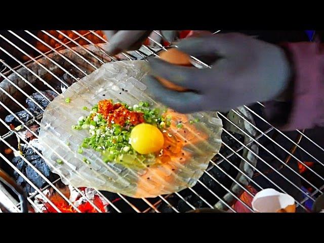 Vietnam Street Food - Vietnamese Pizza Bánh Tráng Nướng Dalat
