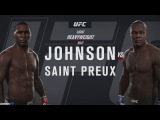 EA Sports UFC 2 лучшие бои онлайн #6 Johnson vs Saint Preux