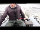 Лодочный мотор Allfa T9.9S на лодке Hunter 330 - обкатка на воде - 2