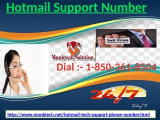 Recover Your Hotmail Account wonderful identity by means of 1-850-361-8504 Hotmail Support Number range