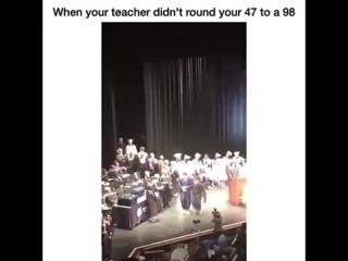 Когда препод не округлил твой балл с 47 до 98