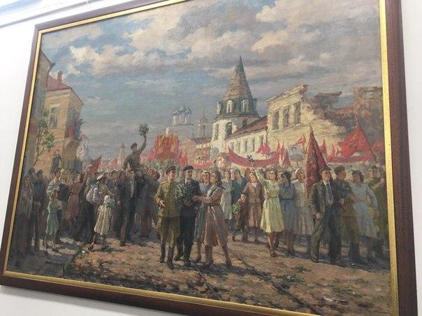 Празднование победы в Пскове, 1947 год