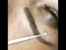 🔥Микроблейдинг бровей в ручной технике нанесения тончайших волосков с лёгкой тенью
