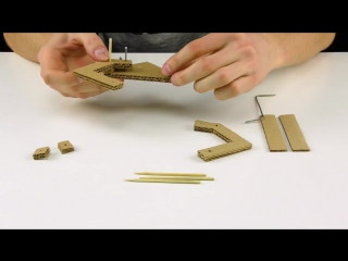 Гидравлический манипулятор из картона