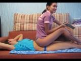 sitting on girl
