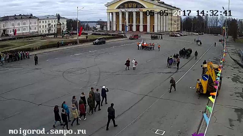 Репетиция парада зарничников 5 05 2017 Камера Сампо ру