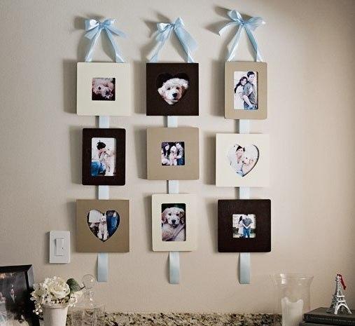 Идея по размещению фотографий на стене