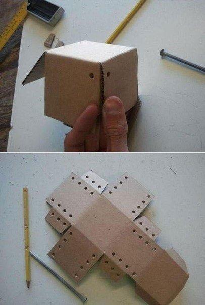 Копилка из картона