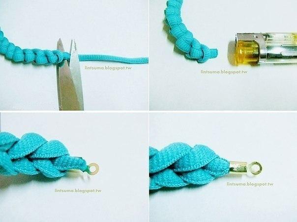 Красивый браслет из шнурка