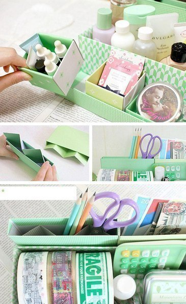 Идея для создания картонного органайзера для мелочей