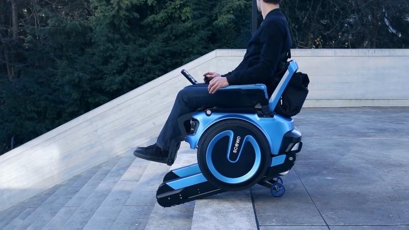 Інвалідний візок, який вміє підніматися сходами