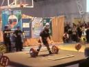 Ирина Луговая приседает 297.5 кг, жмет лежа 212.5 кг, тянет 250 кг. Сумма 760 кг
