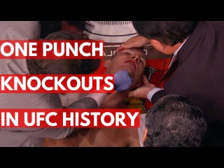 TOP 5: One Punch Knockouts In UFC History
