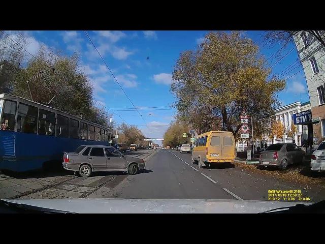 Авария трамвай-15-ая г. Орск