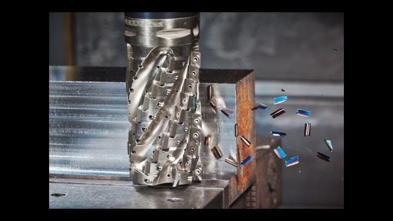 Самая Сумасшедшая скорость фрезеровки металлической детали 2017