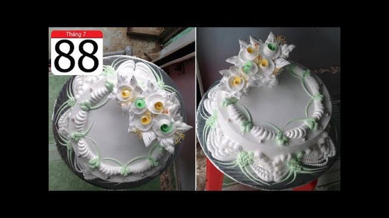 Cách Làm Bánh Kem Đơn Giản Đẹp ( 88 ) Cake Icing Tutorials Buttercream ( 88 )