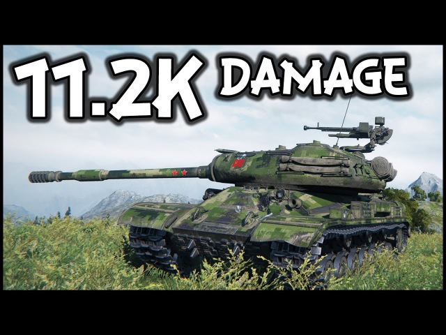 IS-4 - 11.2K Damage - Ace Tanker - World of Tanks IS-4 Gameplay