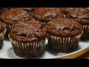 Шоколадные Кексы с Начинкой (Вишня, Банан, Джем) Chocolate cupcakes
