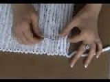 How to make a fabric mat with yarn and handmade loom