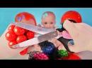 Куклы Пупсики Играют в Цветную Слизь Вскрываем Детские Игрушки Смотрим что внут
