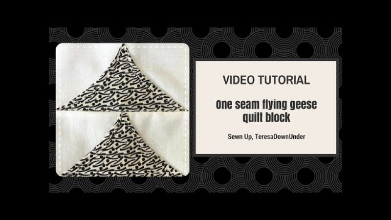Video tutorial 2-minute one seam flying geese quilt block