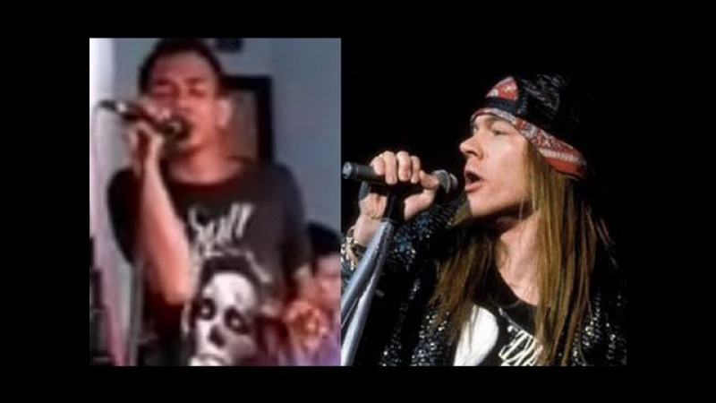 Amazing Voice! Axl Rose Indonesia - November Rain - Fazrun Sebelum Terkenal