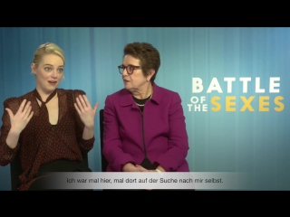 Battle of the sexes – interview_ emma stone  billie jean king