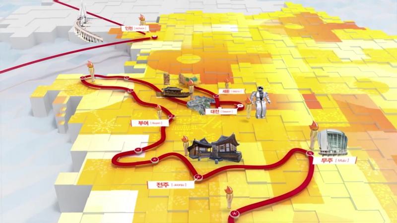 2018 평창 동계올림픽대회 성화봉송로 - PyeongChang 2018 Olympic Torch Relay Route