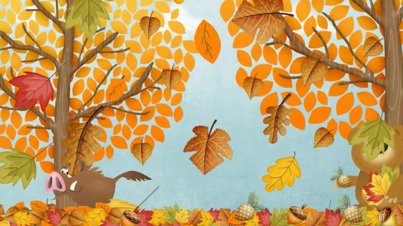 Autumn (Fall) Song for Children - Simple Song to Learn English - ESL (1)