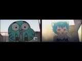 Удивительный мир Гамбола (в стиле аниме для сравнения) HD