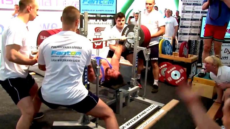 Захир Худояров - жим лежа 280 кг (125 кг)